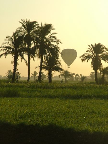 Taken while balloon flying over the Nile in Egypt