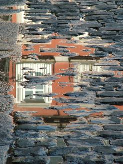 Reflection in the Square, Plaza Mayor, Madrid